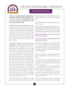 1. Foreknowledge Study Guide