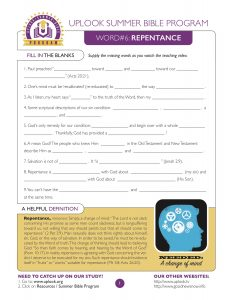 Repentance Study Guide