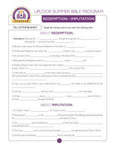 Redemption Imputation Study Guide