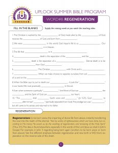 Regeneration Study Guide