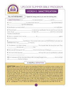 Sanctification Guide